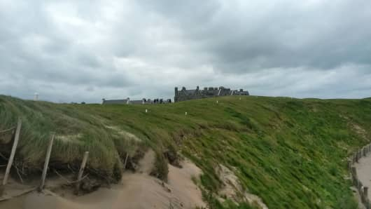 Right-hand side of the fairway on the approach to the 18th green at Trump International Golf Links & Hotel, Doonbeg.